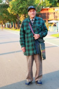 Stylish Russian pensioners