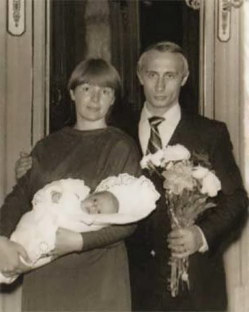putin, his wife and daughter