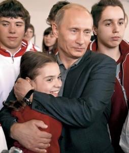 Sotnikova and Vladimir Putin