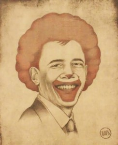 Barack Obama as clown