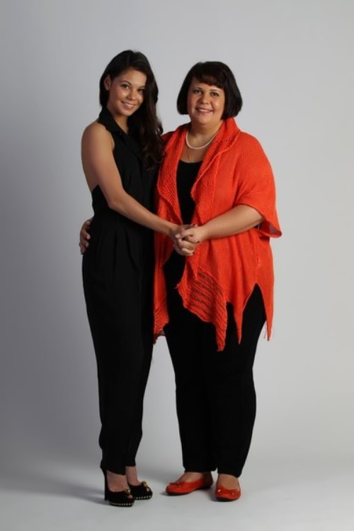 Elena Ilinykh and her mother