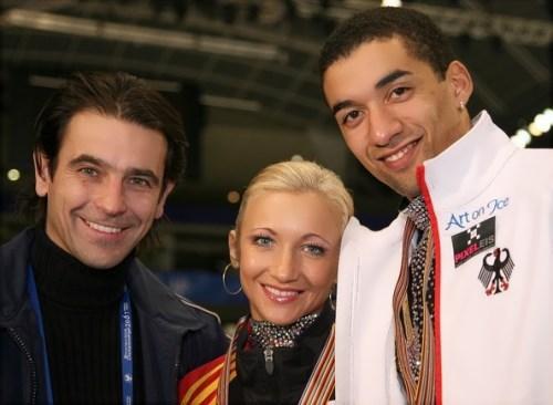 Ingo Steuer, Aliona Savchenko and Robin Szolkowy, 2007