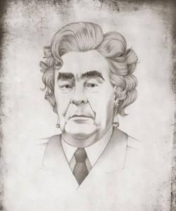 Leonid Brezhnev as Marilyn Monroe