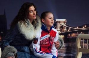 Lipnitskaya and her coach Eter Tutberidze