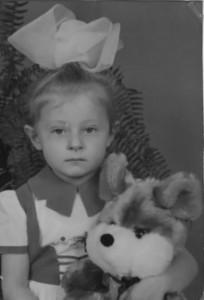 Vilukhina in her childhood
