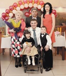 Irek Zaripov and his family