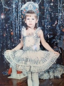 Julia Alipova in her childhood