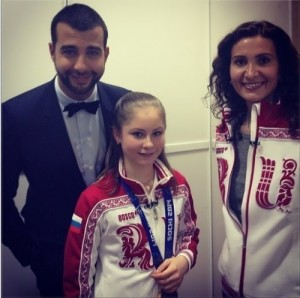 Urgant and Yulia Lipnitskaya