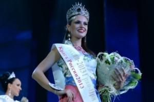 Anastasia Trusova, winner of national beauty contest Beauty of Russia 2013