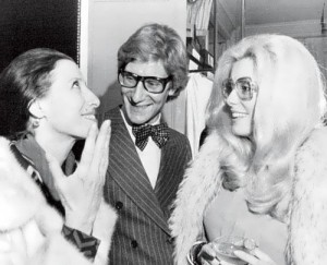 Plisetskaya, Catherine Deneuve and Yves Saint Laurent