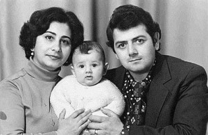 Galustyan with his parents
