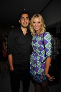 Sharapova and Sasha Vujacic