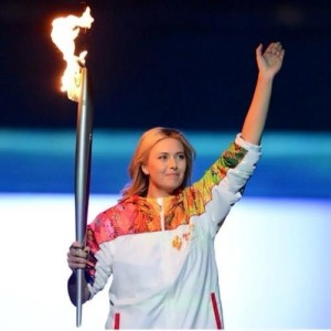 sharapova olympic torch