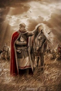 Igor Ozhiganov. Prophetic Oleg's farewell to his horse.
