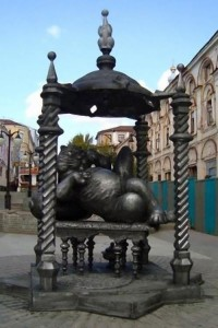 Monument to Kazan Cat in the center of Kazan, Republic of Tatarstan