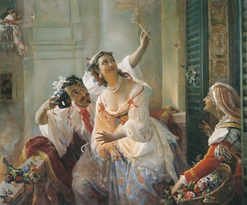 Scene of the Roman carnival Pimen Orlov