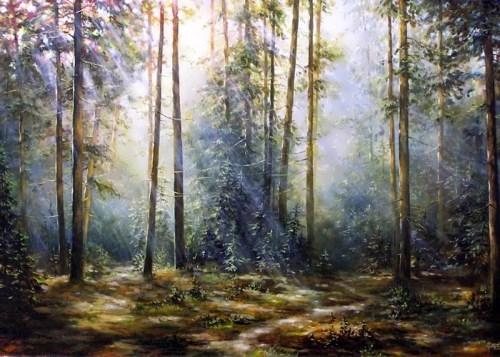 Painting on glass by Elsa Kolesnikova
