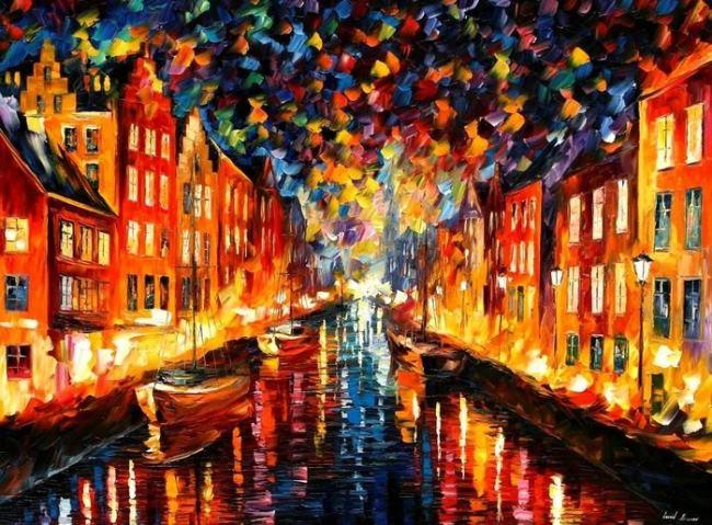 Bright artist Leonid Afremov