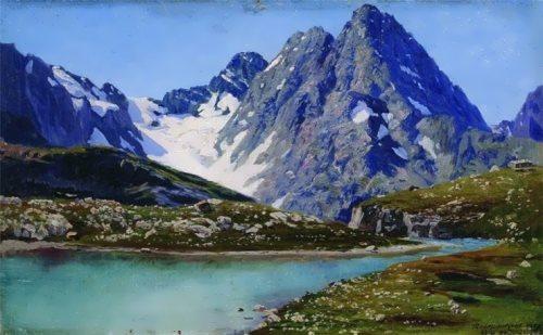 Caucasus. Teberdinsky lake Nikolai Yaroshenko