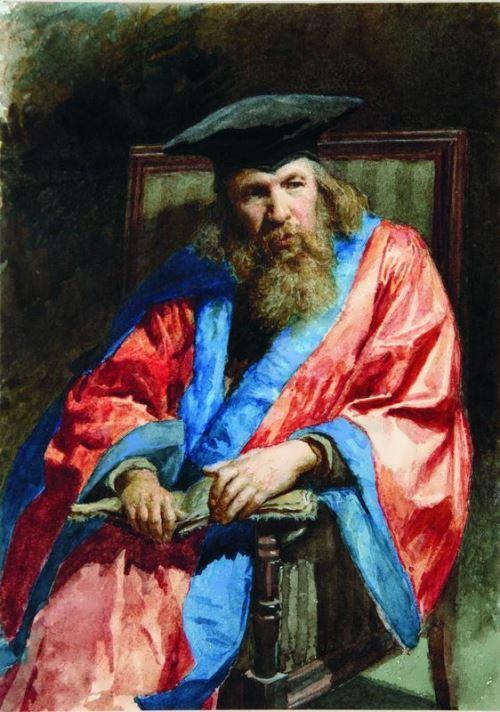 Portrait of D. Mendeleev Nikolai Yaroshenko