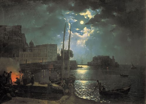Moonlit Night in Naples Silvestr Shchedrin