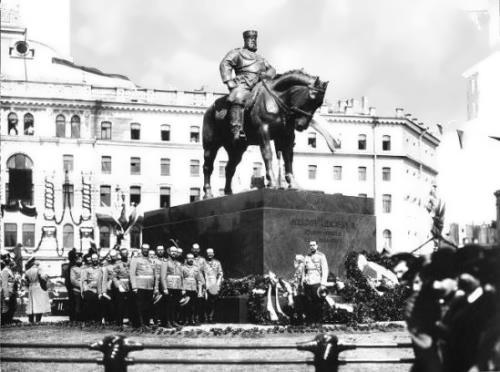 Opening of the monument to Alexander III in St. Petersburg