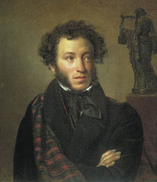Portrait of the poet Alexander Pushkin. 1827