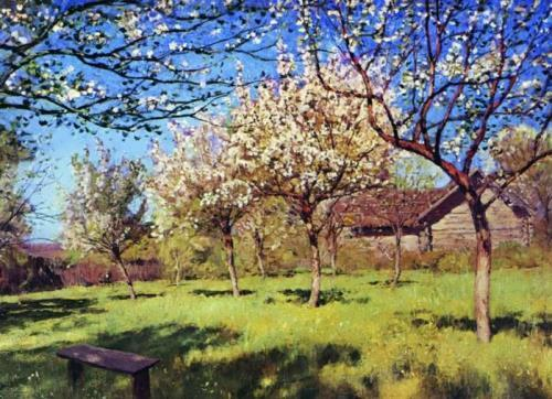 Apple Trees in Blossom Isaac Levitan
