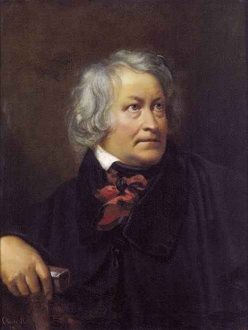 Portrait of Danish sculptor Bertel Thorvaldsen. 1831