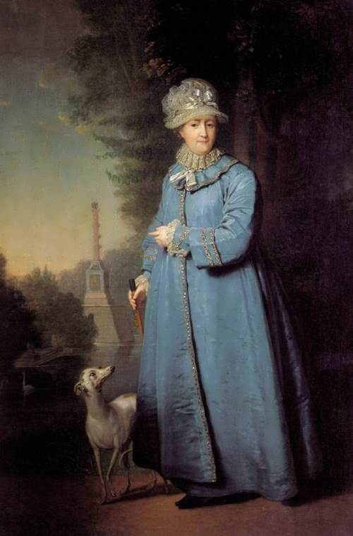 Catherine II Walking in the Park at Tsarskoye Selo Vladimir Borovikovsky
