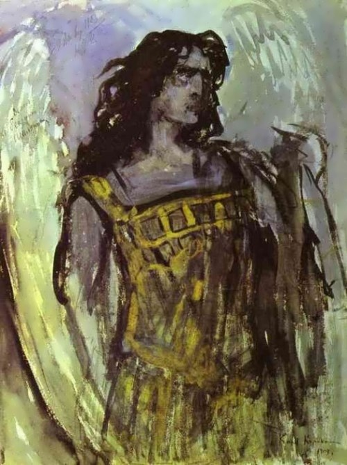 Chaliapin in the role of the Demon Konstantin Korovin