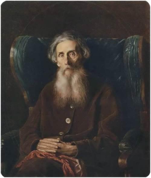 Portrait of writer Vladimir Ivanovich Dal Vasily Perov
