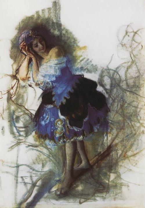 Dancer Zinaida Serebryakova