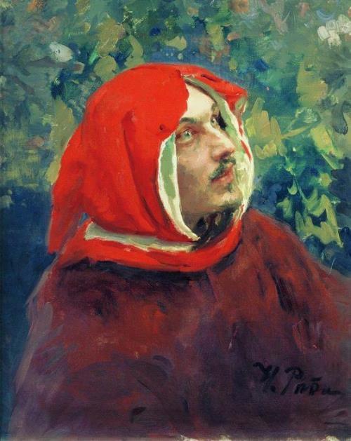 Portrait of Dante Ilya Repin