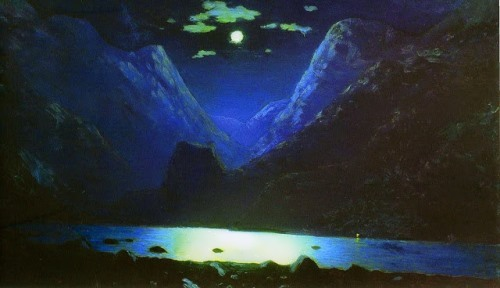 Daryal Gorge Moonlight night Arkhip Kuinji