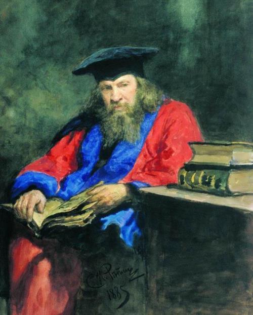Portrait of Professor Dmitri Mendeleev Ilya Repin