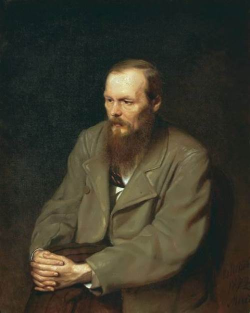 Portrait of writer Fyodor Dostoyevsky Vasily Perov