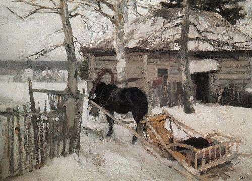In winter Konstantin Korovin