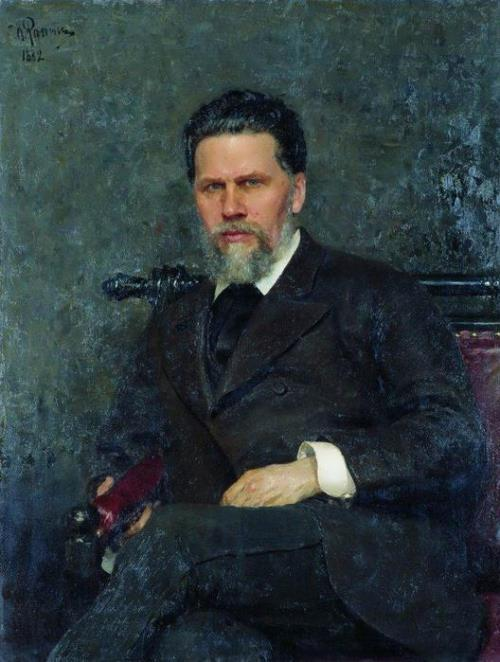 Portrait of the artist I. Kramskoy Ilya Repin