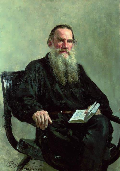 Portrait of the writer Leo Tolstoy Ilya Repin