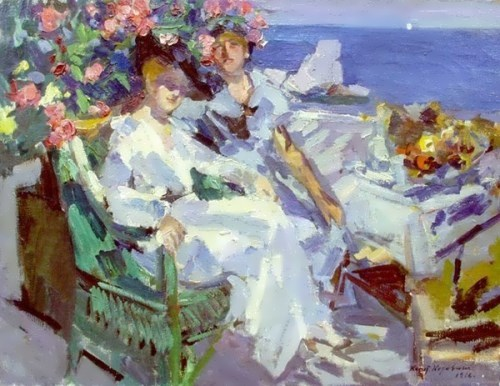 On the terrace Konstantin Korovin