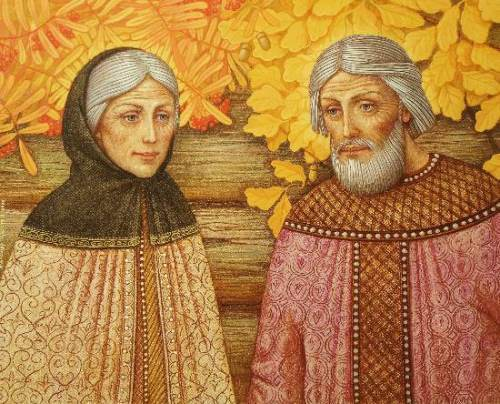 Peter and Theuronia of Murom. Artist Alexander Prosteev