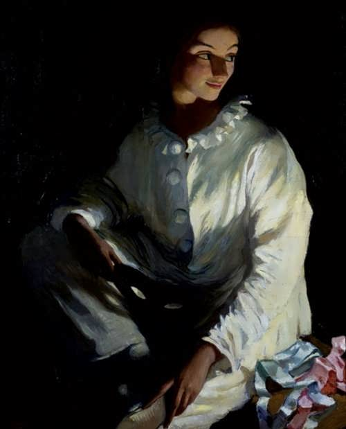 Self-portrait in a costume of Piero Zinaida Serebryakova