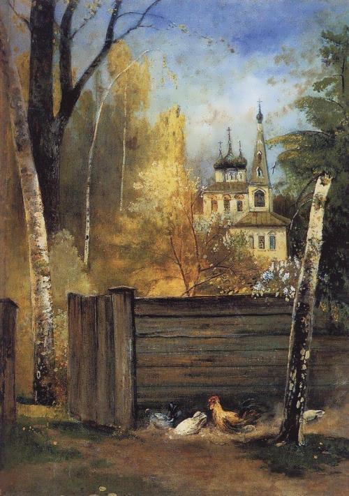 Spring Provincial courtyard Alexei Savrasov