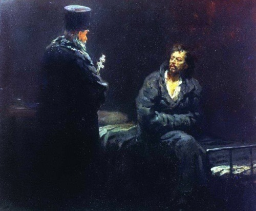 Refusal to confess before execution Ilya Repin