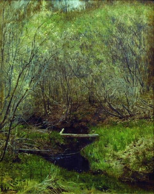 Spring in the forest Isaac Levitan