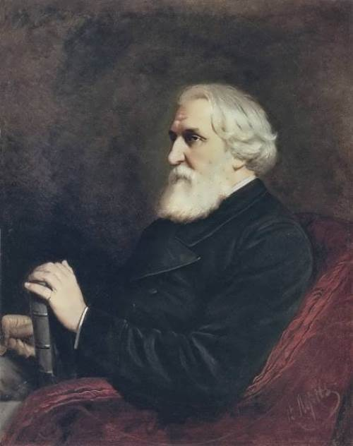 Portrait of writer Ivan Turgenev Vasily Perov