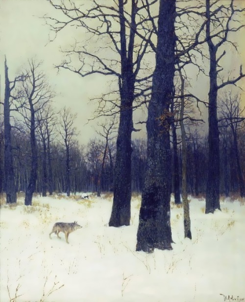 Winter in the forest Isaac Levitan