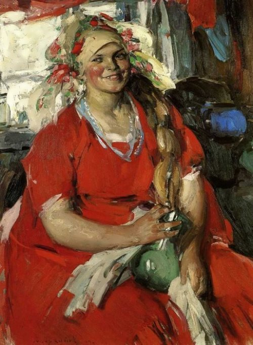 Woman in red Abram Arkhipov