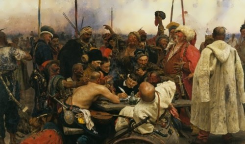 The Zaporozhian Cossacks Write a Letter to the Turkish Sultan Ilya Repin